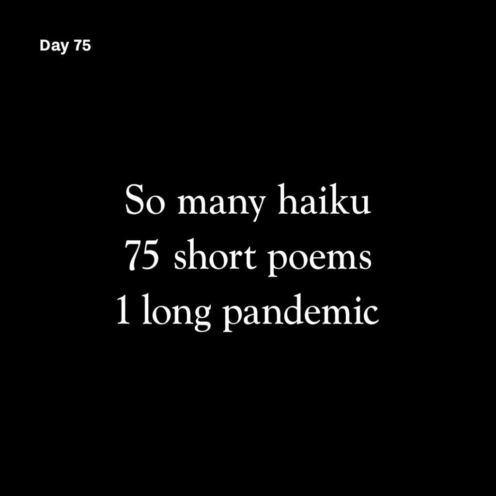 Haiku day 75